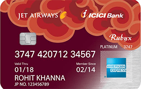 Jet Airways ICICI Bank Rubyx American Express Credit Card